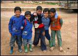 Schoolboys in the little village Sabkhat al-Jabbul