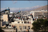 Early morning in Damascus with snow on the mountains