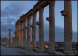 Palmyra ruins in dusk
