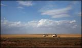 Tents in the desert close to Deir ez-Zor
