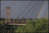 Suspension bridge in Deir ez-Zor