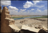 The view over Euphrates seen from Halabiya ruins