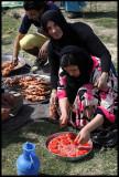 Preparing picnic near Halabiya