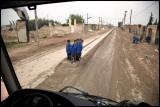 Driving through Sabkhat al-Jabbul a rainy day