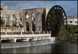 One of the ancient waterwheels that remain in Hama