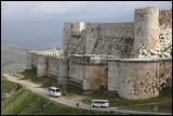 The famous crusader castle Krak des Chevaliers near border of Lebanon