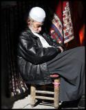Sleeping man in old Damascus
