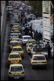 Late traffic in central Damascus