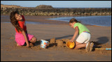Girls playing on the beach - Fuerteventura