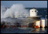 Winter gale in Skanör harbour - Sweden
