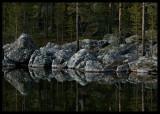Summernight by small finnish lake