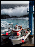 Heavy weather in Santa Cruz harbour