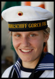 Officer training on old German ship Gorch Fock
