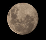Test shot of the moon