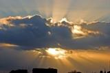 Sunburst over London