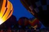 Balloons after sundown