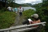 16 Pat takes notes at Freshwater Lake 1241