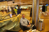 Mikael at Landvetter airport  with the second beer
