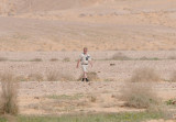 Mikael looks like Carl Hamilton but he´s just watching Thick-billed lark