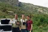 Mikael Nelin Andreas Hultfeldt och jag nyss X:at Lammgam, Pyreneerna Maj-02