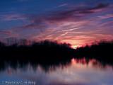 Sunset at Lake Luxembourg