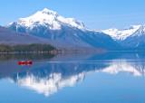 Hazy day canoe - Lake McDonald in Glacier National Park z P1080328