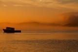 Knysna sunset in fog
