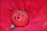 Red on Red Pincushion