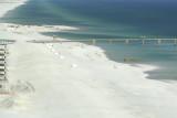 Illegal brown sand at Sugar Beach - Navarre Beach, Florida