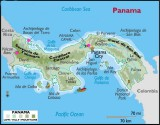 Map of Panama showing our three main destinations