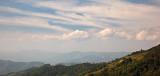 Mountain cloudscape and village