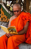 Monk in Vientiane studying