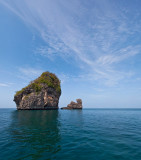 Phi Phi Island limestone cliff Panorama