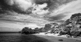 Rottnest dramatic clouds black white