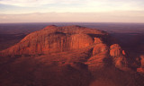 Sunset over Kata Tjuta from the air