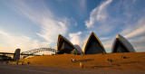 Opera House and cloudscape at sunset