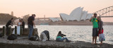 Opera House sunset busy with photographers