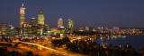 Perth at night from Kings Park