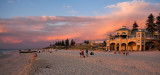 Cottesloe Beach and Indiana Teahouse at sunset