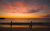 Walking Cottesloe Beach at sunset
