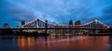 Brisbane Storm Cityscape panorama