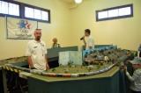 N scale N-trak display in the station. Hi Nick!