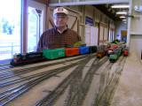 Brinton Jones of TCSME and his train.