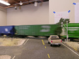Westbound grain train at speed somewhere in Eastern WA, sorta.