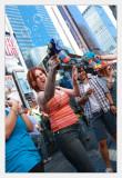 Bubbles over Times Square