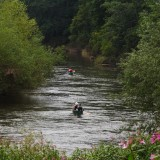 canoing on the Wye at Kerne Bridge