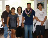 Uncle Roy, cousins and Aunty Wendi