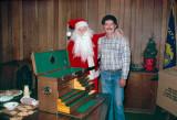 Mike Kolb with Santa Steve Johnson