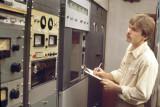 Brian Edwards Taking Transmitter Readings - 1982