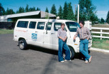 Brian Edwards and Mike Kolb with the Station Van Before Repainting - June 1981